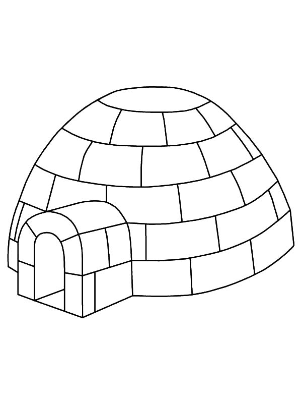 Igloo Outline Coloring Pages Bulk Color House Colouring Pages Coloring Pages Igloo Drawing