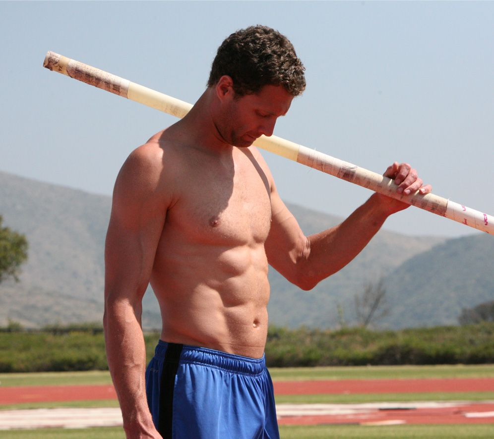 Brad Walker, Us Olympic Pole Vaulter, Shirtless  Male -9175