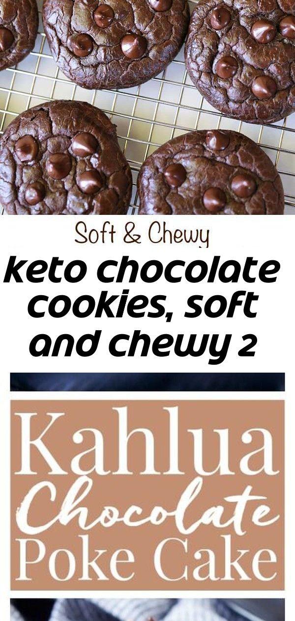 Keto chocolate cookies, soft and chewy 2 #chocolatepeanutbutterpokecake