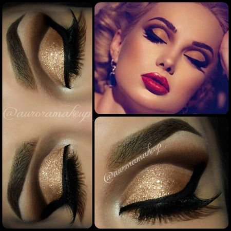 36 best 2016 Ball Looks - Hollywood Glam images on ...   Hollywood Glam Eye Makeup