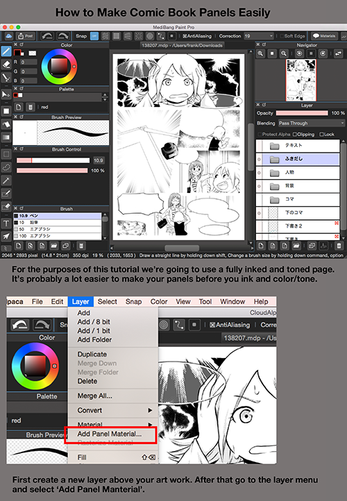Medibangpaint Digital Art Software Comic Tutorial How To Make Comics