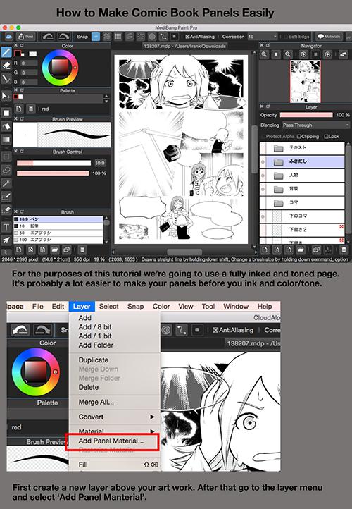 Medibangpaint Digital Art Software Comic Tutorial How To Make Comics