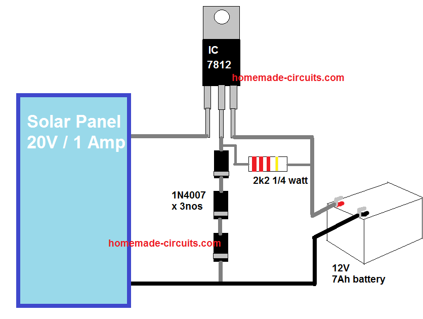 9 Simple Solar Battery Charger Circuits Homemade Circuit Projects In 2020 Solar Battery Charger Solar Panel Charger Solar Battery