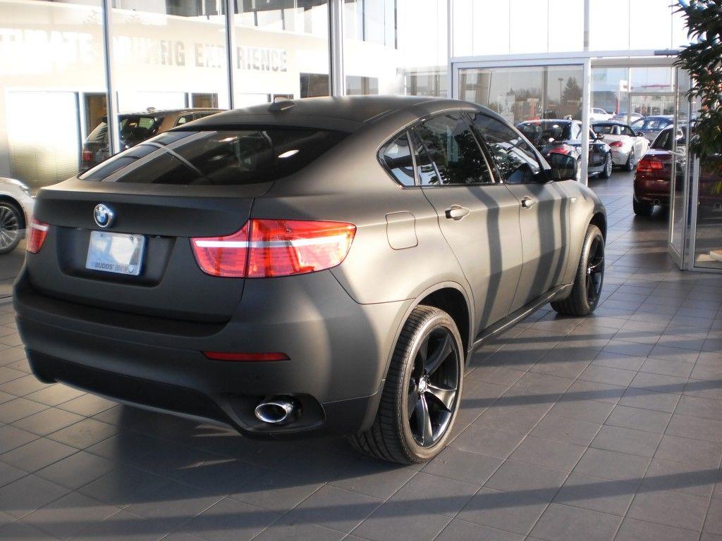Full Matte Black Wrap For Budd S Bmw Bmw X6 Bmw X6 Custom Cars