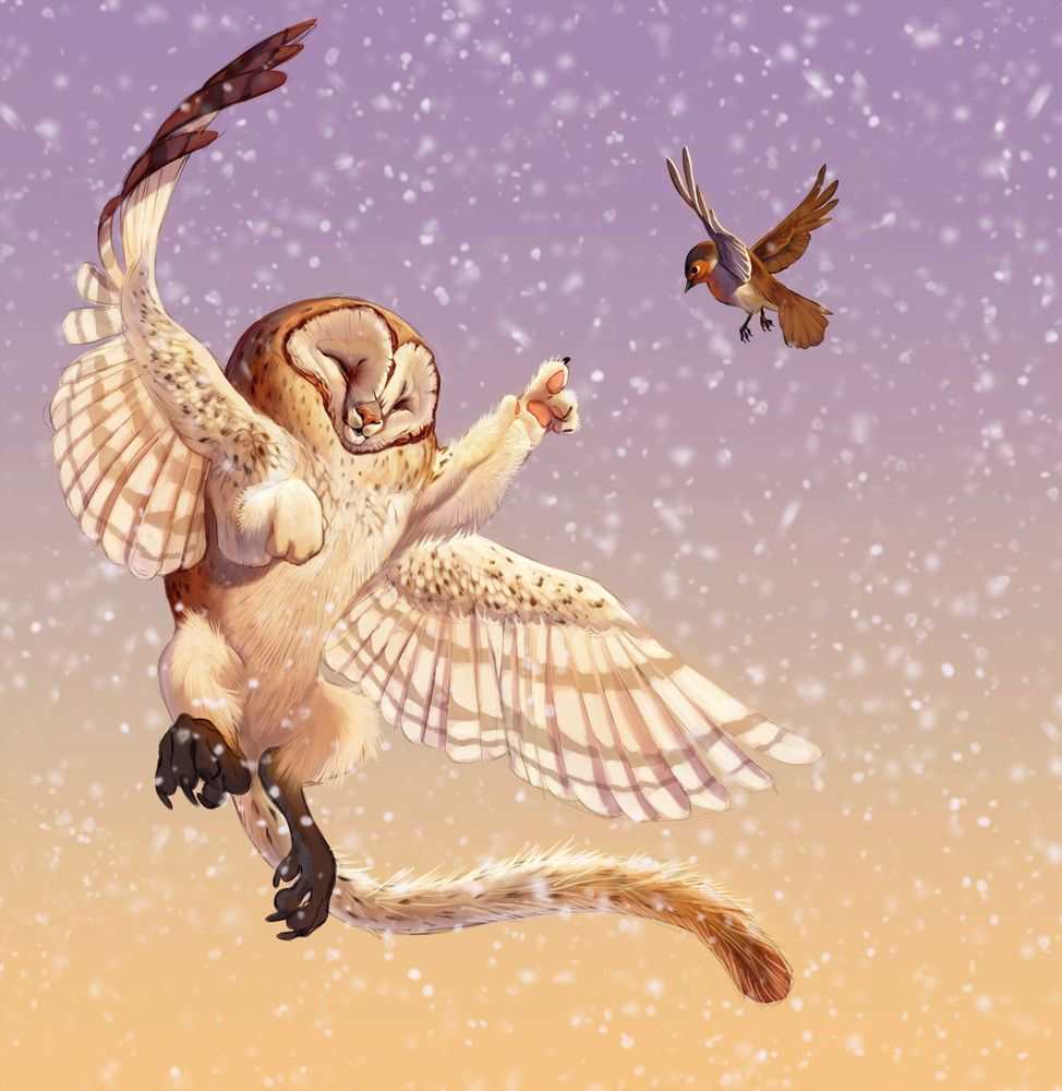 Raoul S Flight Barn Owl Creature Art Owl Cat