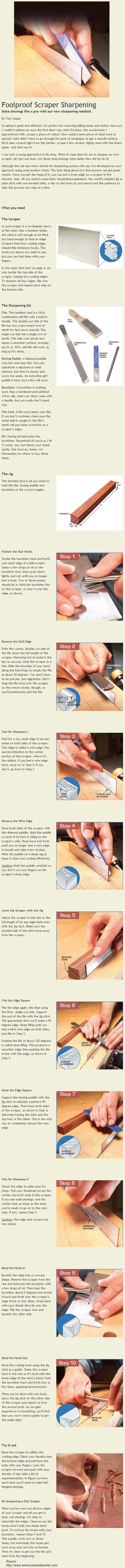 Foolproof Scraper Sharpening