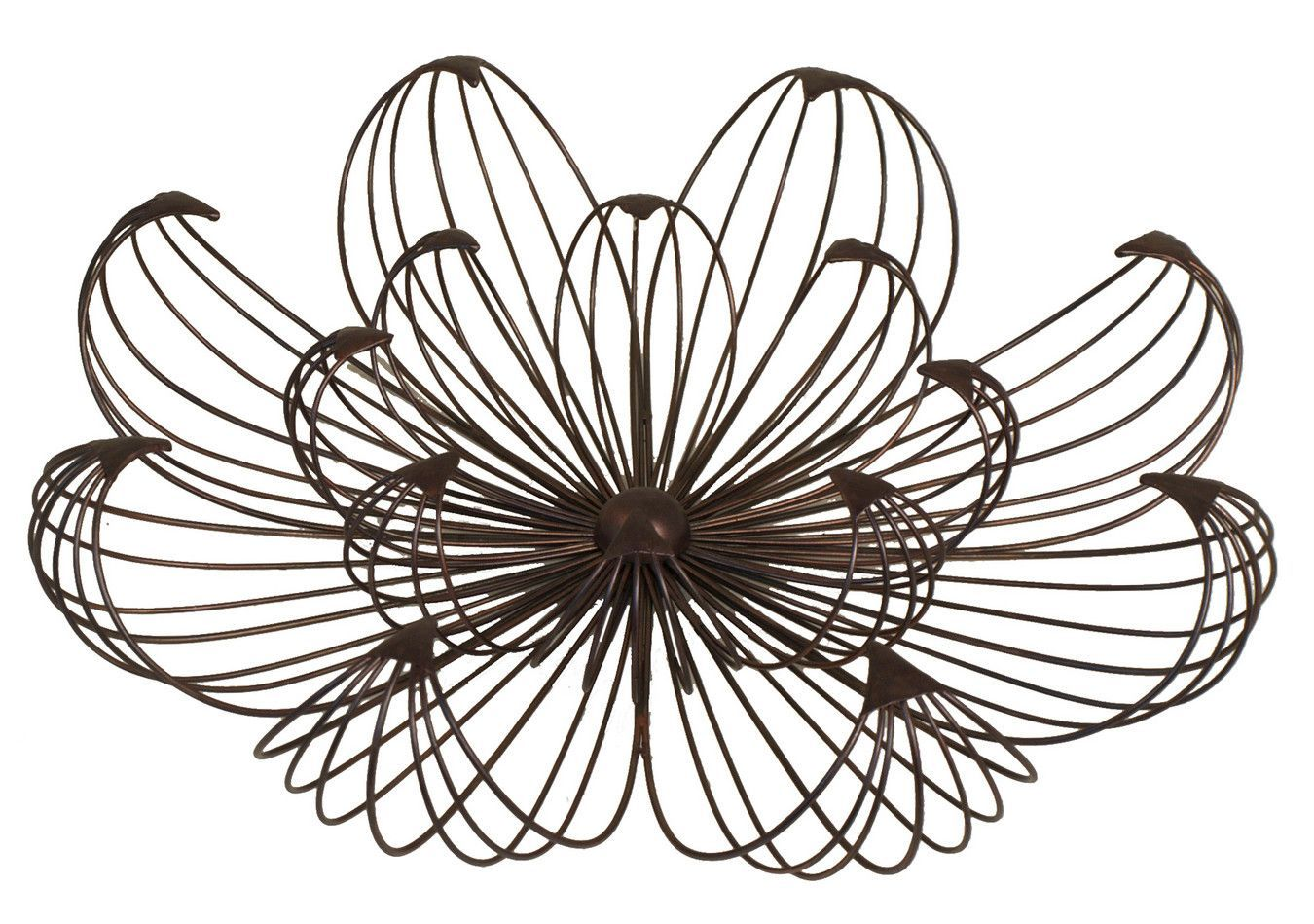 Creatively Designed Floral Wall Decor Small Metal Wall Art Wire