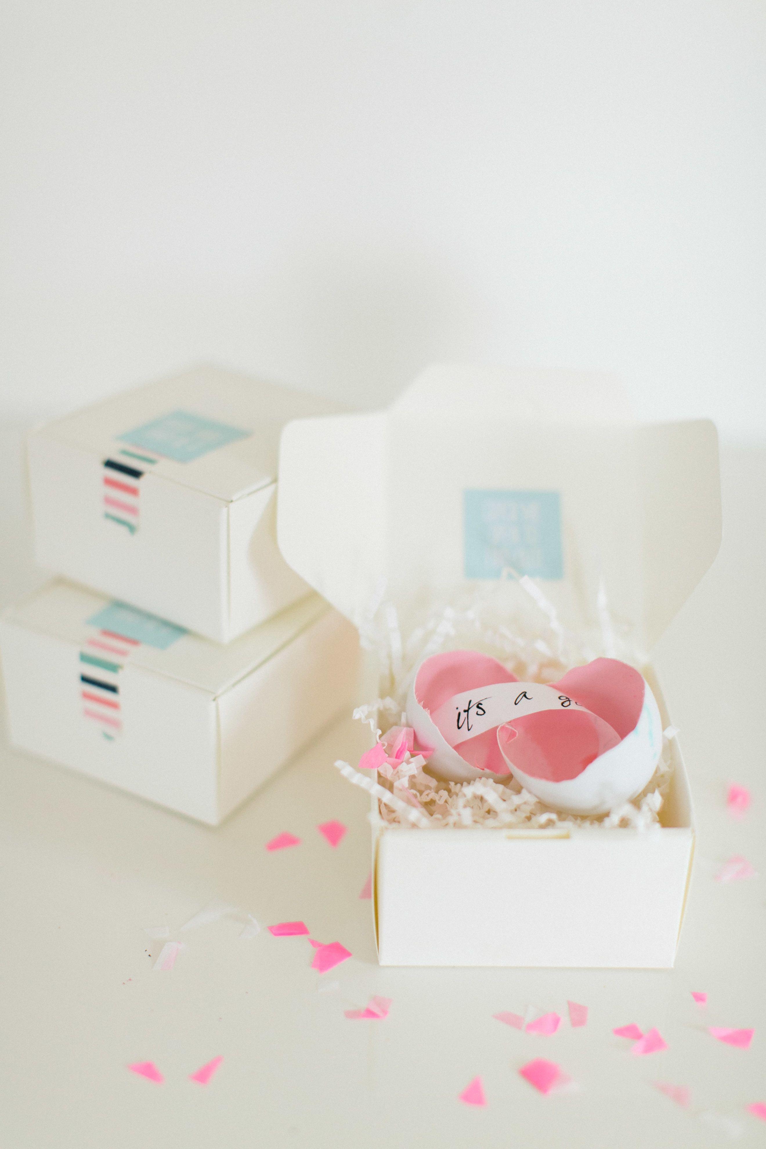DIY Gender Reveal Egg Packages