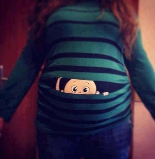 9be89f61be9cc Baby peeking out shirt... | Lol | Pregnancy humor, Funny pregnancy ...