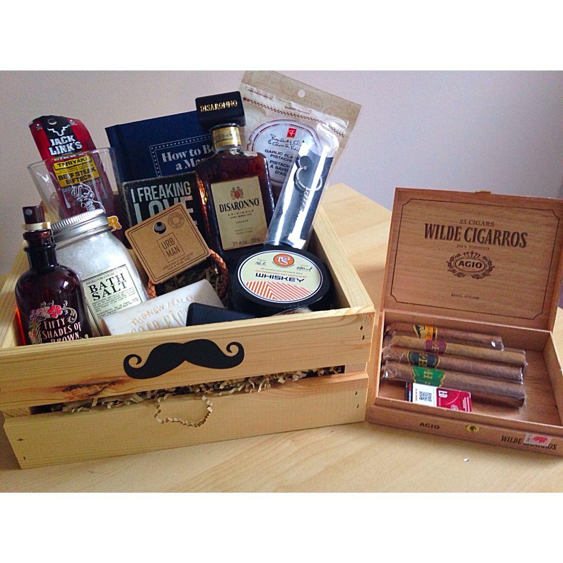 DIY Man Crate #man #crate #bf #gift #diy #manly #present #birthday ...