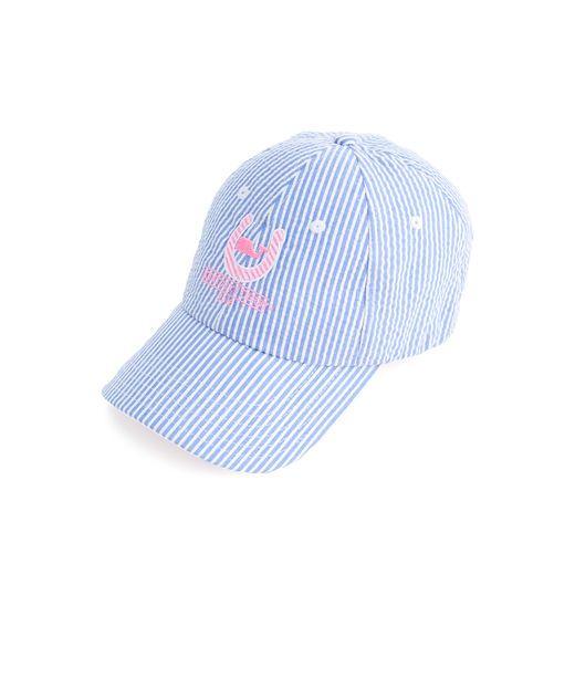 vineyard vines navy baseball cap hat sale seersucker horseshoe derby collection flamingo