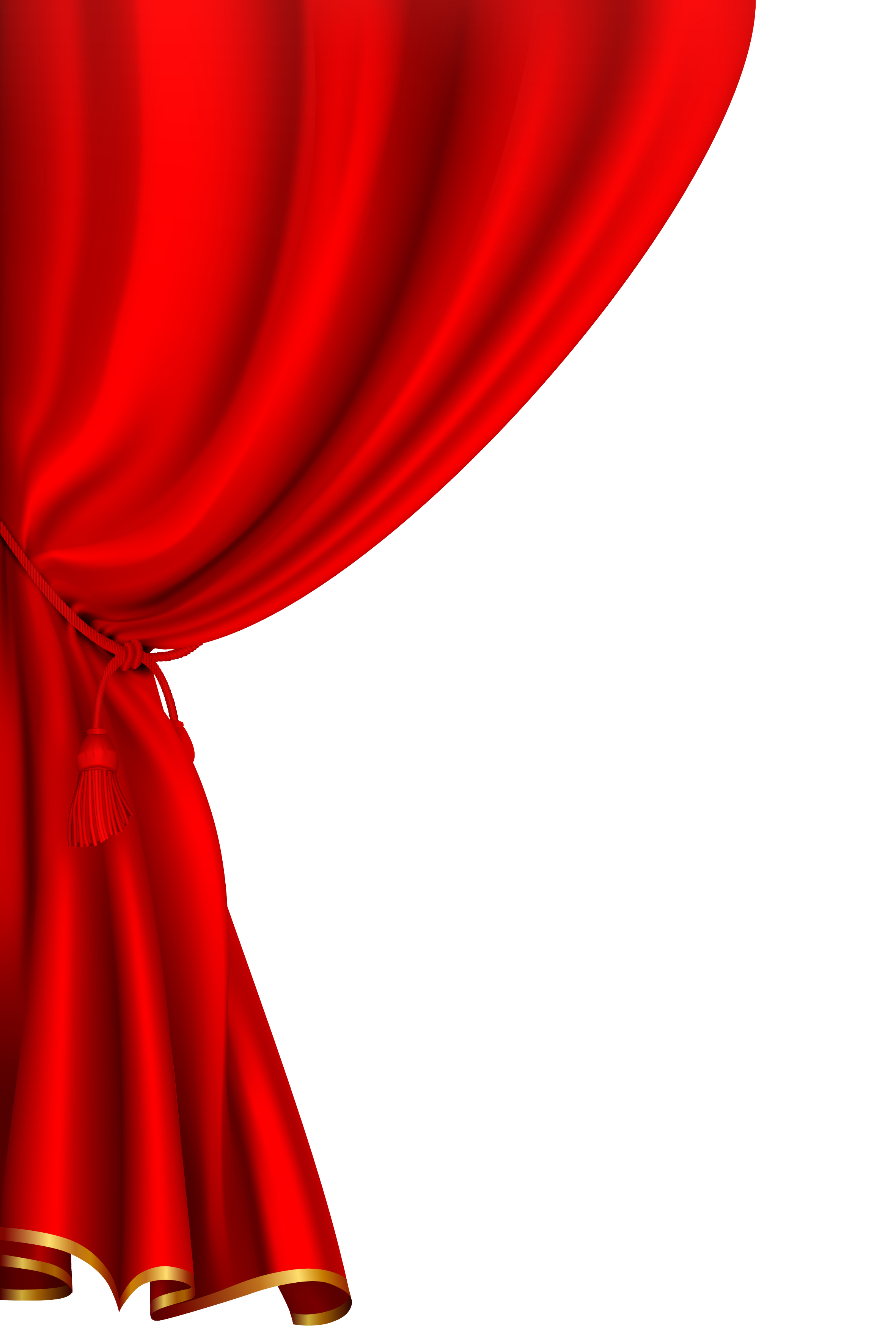 High Resolution Red Curtains Background