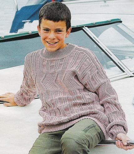 джемпер на мальчика подростка вязаный спицами кофточки 2 вязание