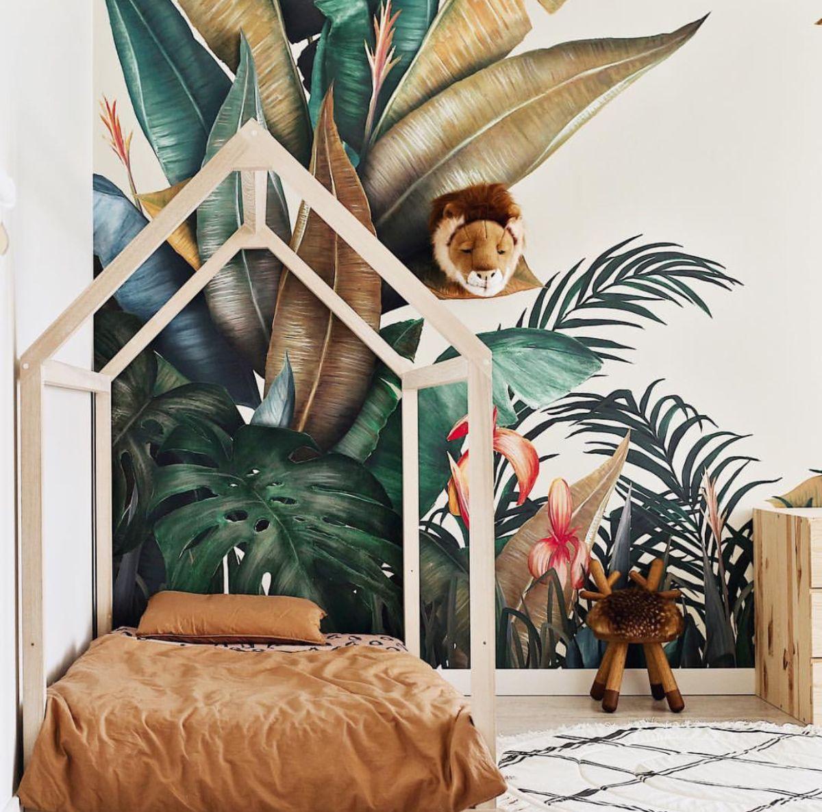 Deco Une Chambre Enfant Theme Nature Animaux Chambre Enfant