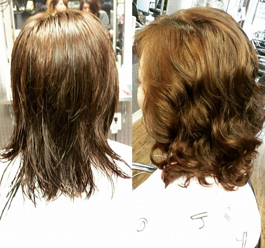 Sample Pictures Of The Customer Who Had Digital Perm At