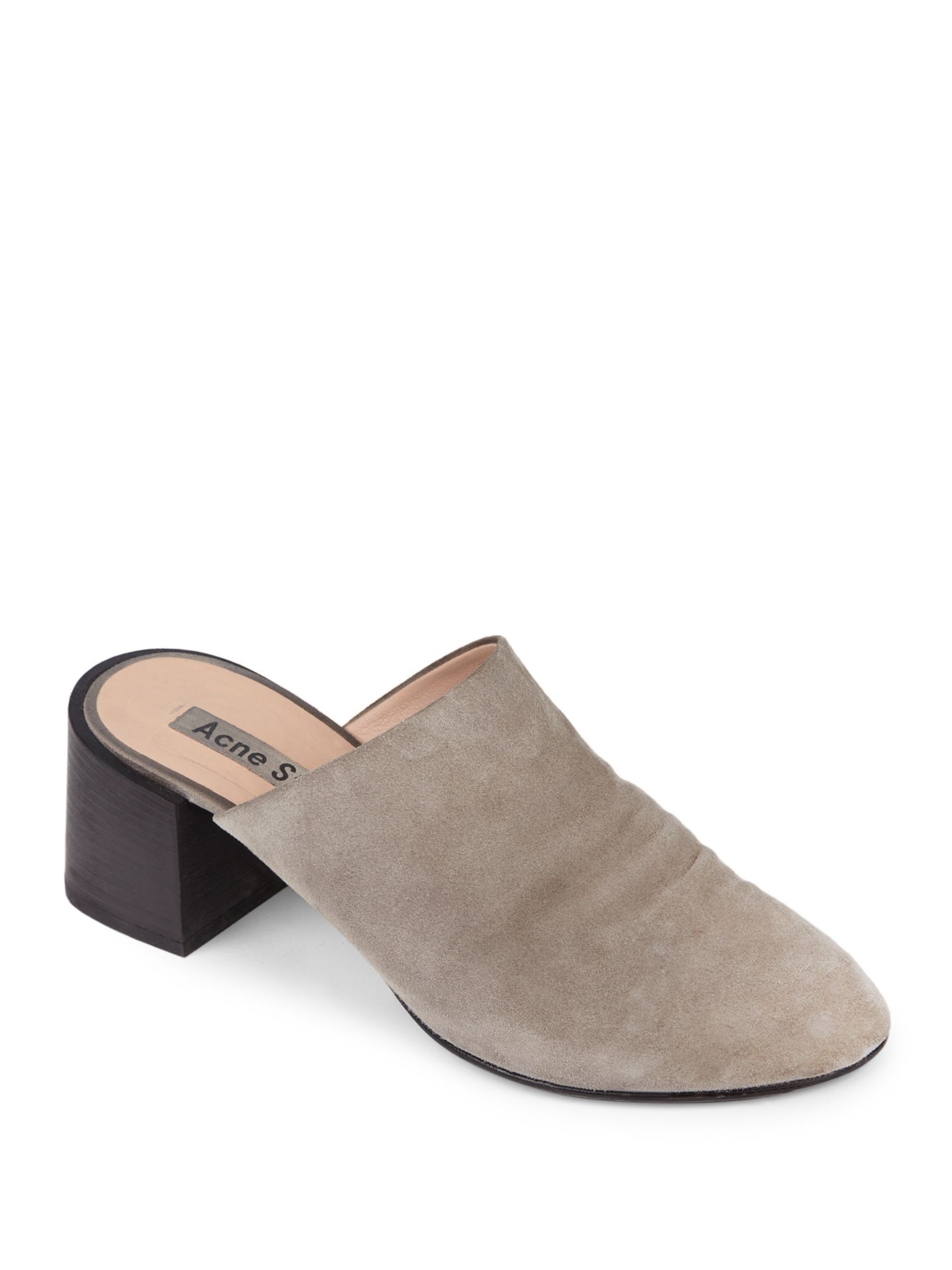 Acne Textured Suede Mules