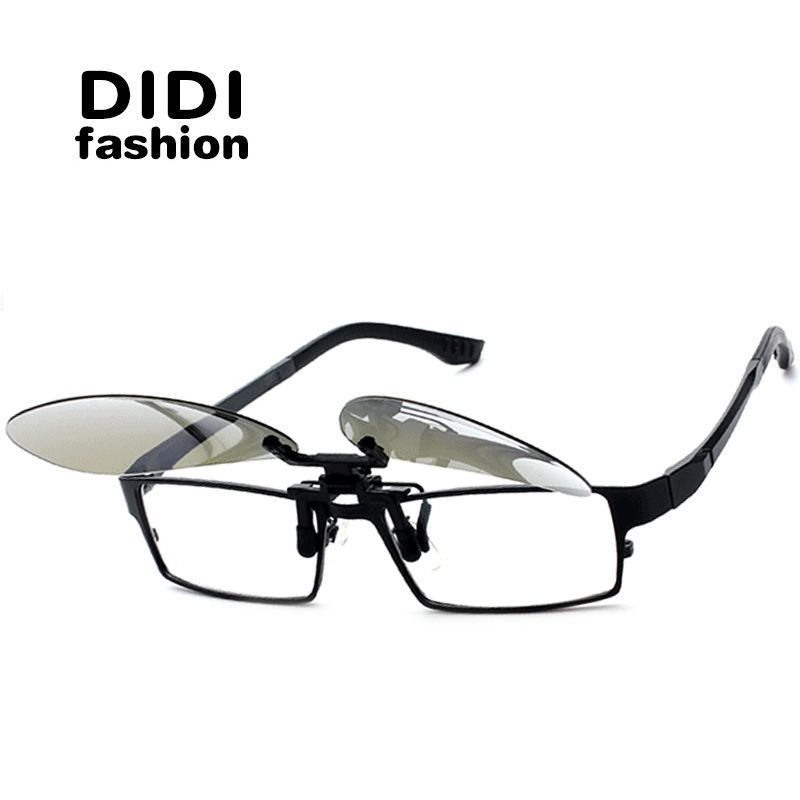 DIDI Aviator Polarized Clip On Sunglasses Women Men Rimless Frame ...