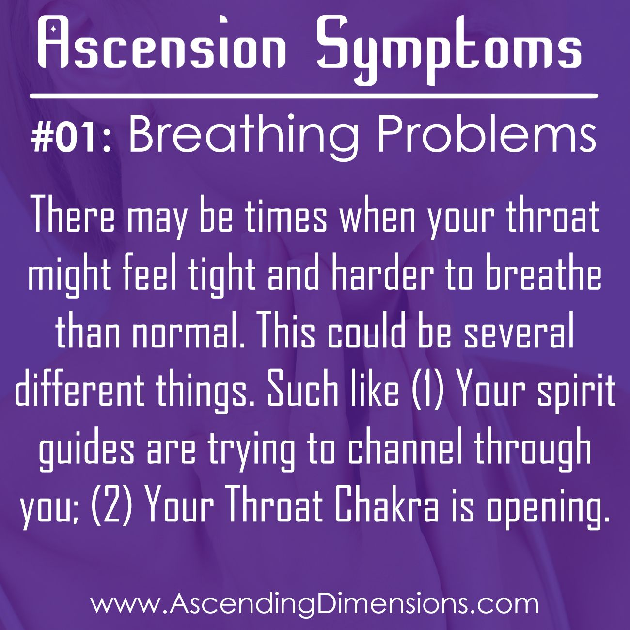 Ascension Symptom #01: Breathing Problems