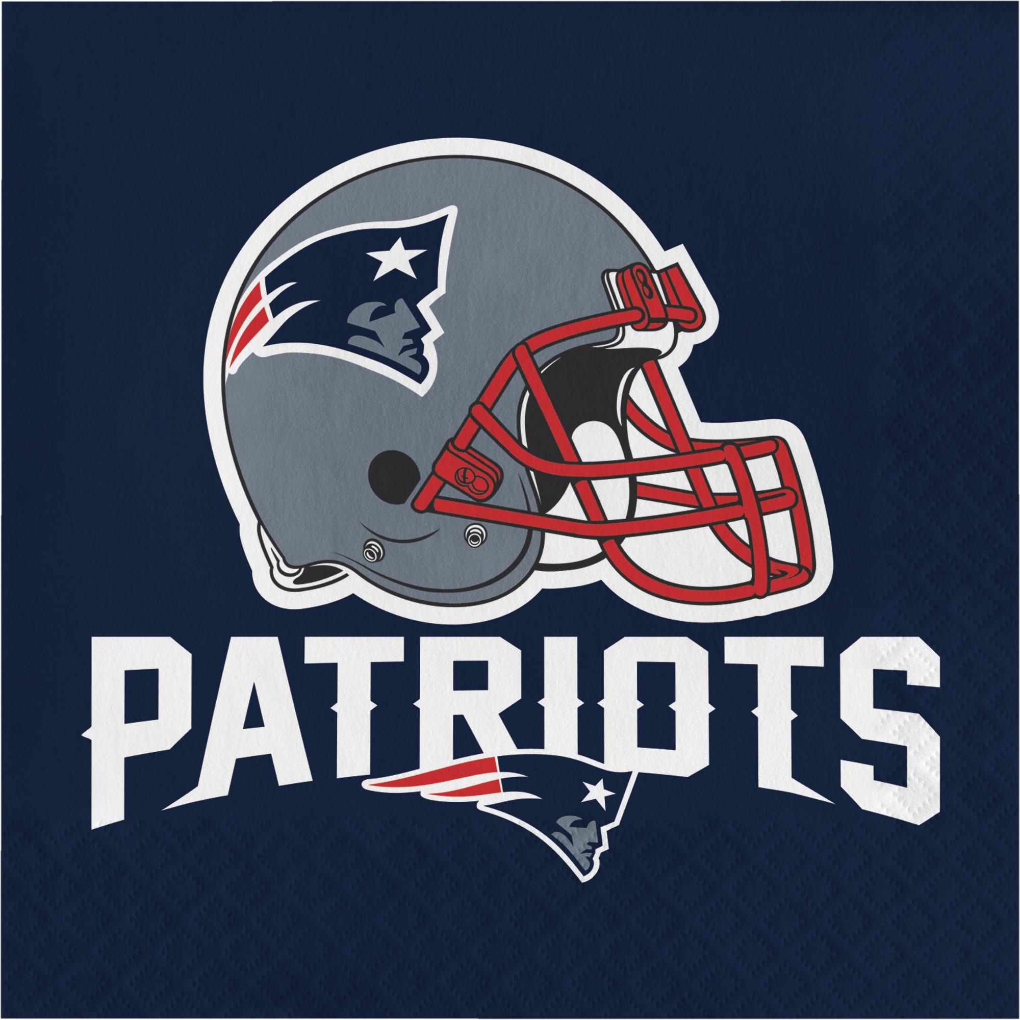 16ct New England Patriots Napkins, MultiColored New
