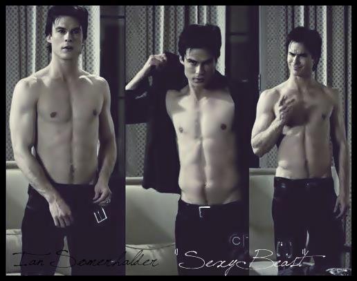 Damon With No Shirt Yup Like It Boys Ian Somerhalder Vampire