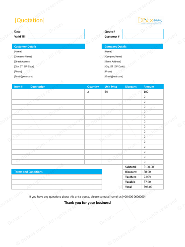 Quotation Template For Excel from i.pinimg.com