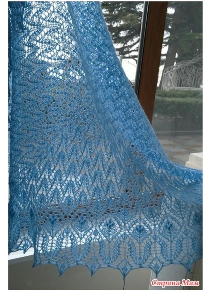платки и шали спицами схемы