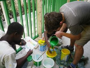 Architecture for Humanity helps rebuild a school in Haiti.