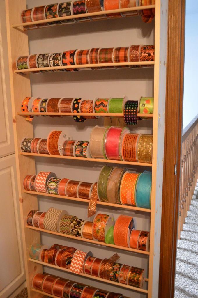 ORIGINAL Ribbon Roll Control Holder Acrylic Ribbon Storage Shelf or Wall