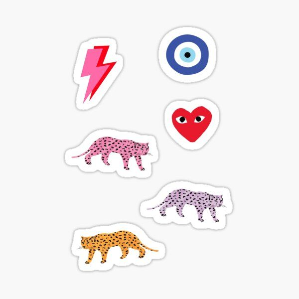 Preppy Colorful Sticker Pack Sticker