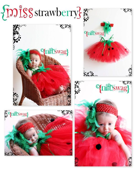 Miss Strawberry Tutu Costume by niftyswag on Etsy, $40.00