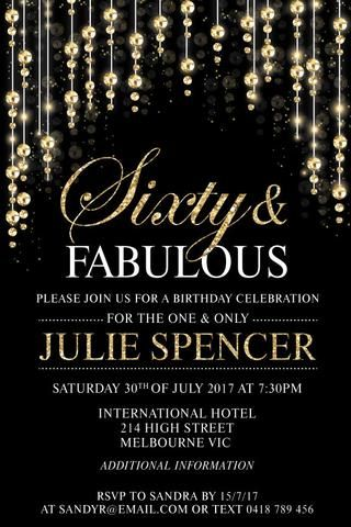 60th birthday party invitation sensational sixty in 2018 things