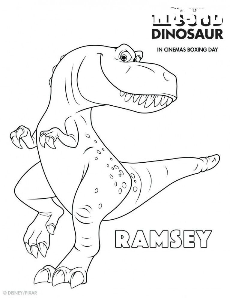 8 The Good Dinosaur Coloring Pages in 2020 Malvorlage