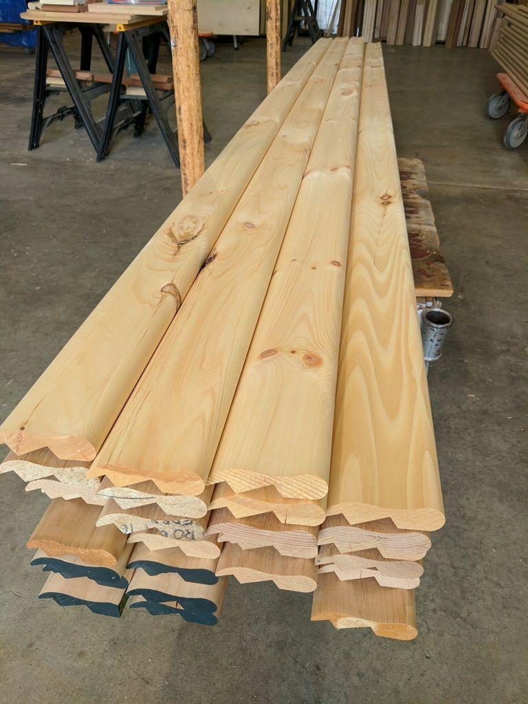 16 Feet Long Bar Rail Molding In Knotty Pine Oak Poplar And Mahogany 1 844 Bar Rail Bar Rail Man Cave Bar Wine Barrel