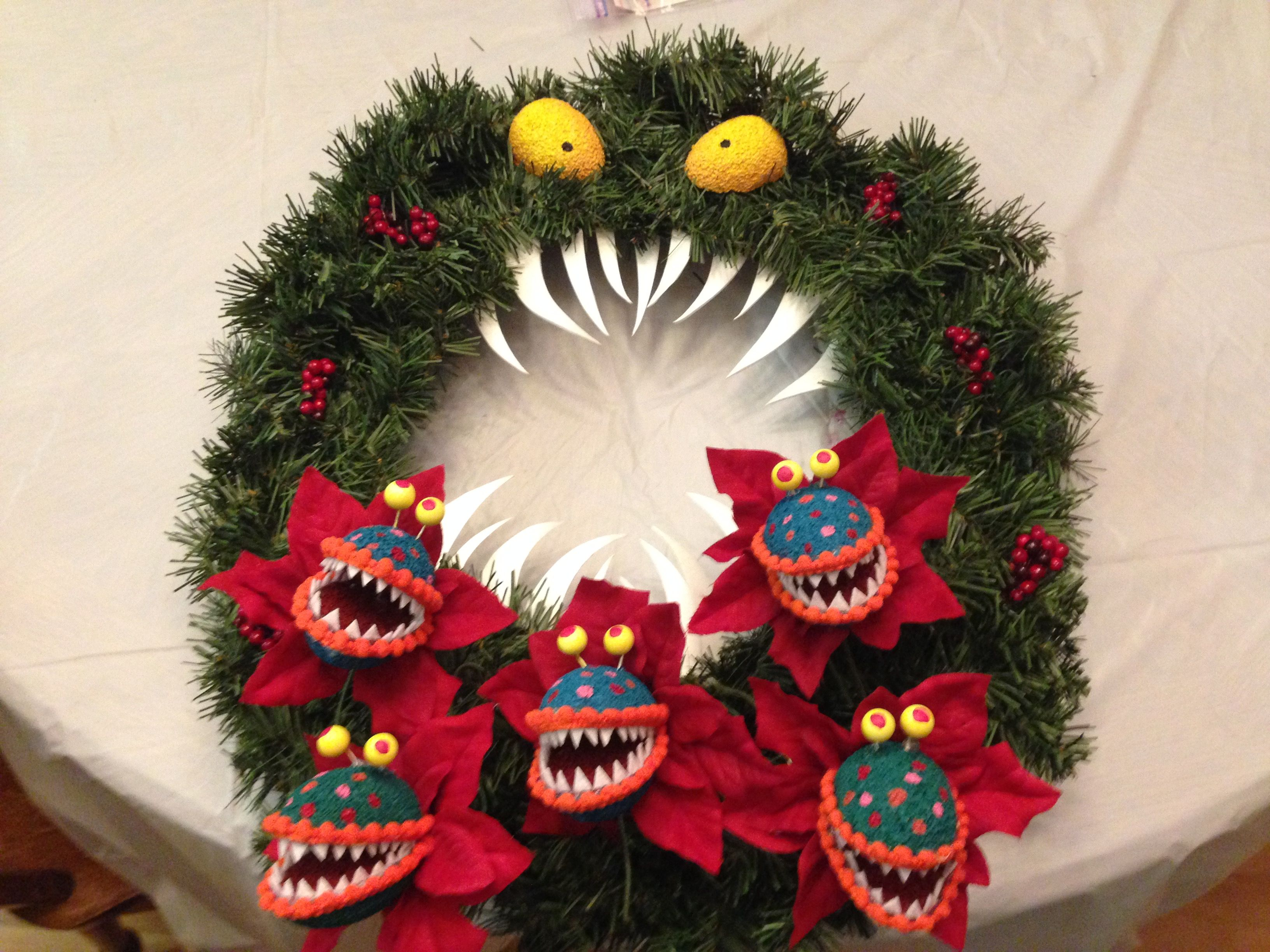 Wreath Monster Decor I Made Inspired By The Haunted Mansion