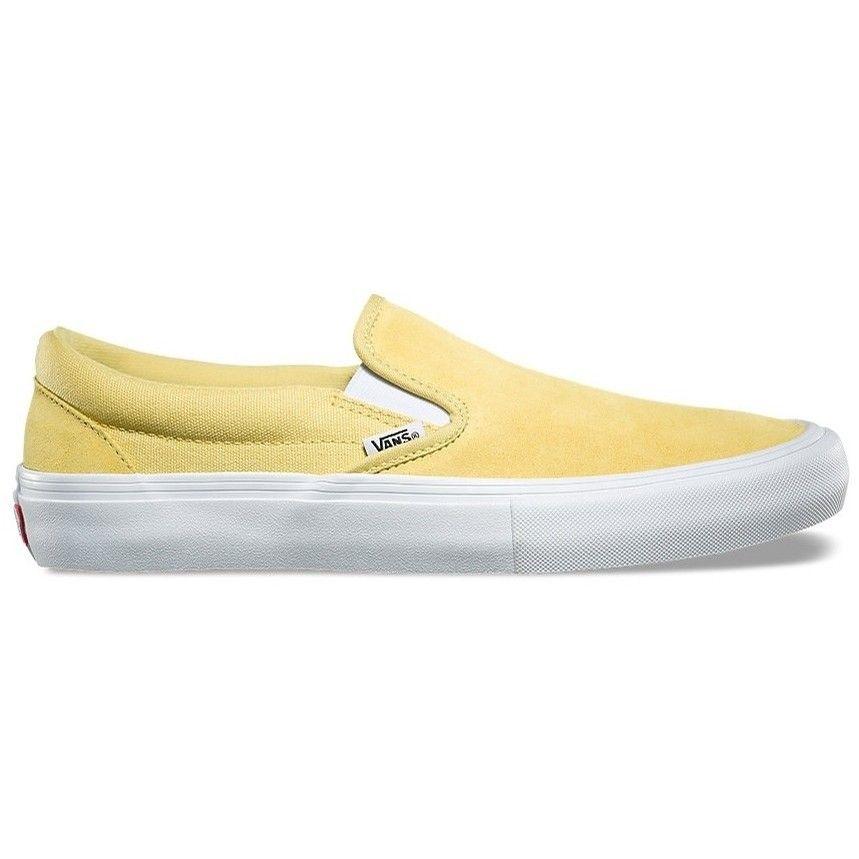 Vans Slip On Pro Dusky Citron Yellow Slip On Vans Yellow Vans Shoes