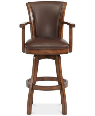 Phenomenal Raleigh Arm 26 Counter Height Swivel Wood Barstool In Pabps2019 Chair Design Images Pabps2019Com