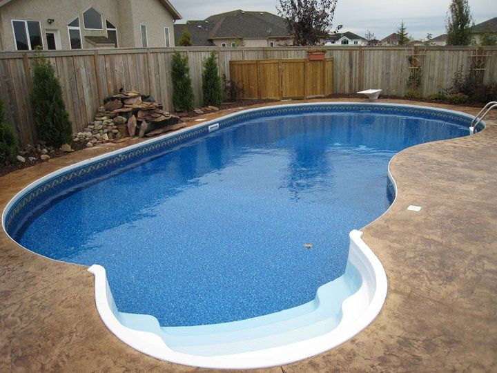 Small inground swimming pool designs flatback kidney is for Images of kidney shaped pools