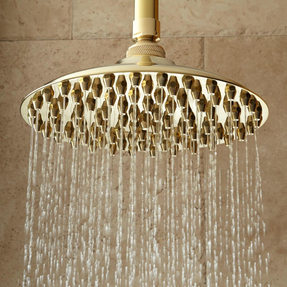 8 Bostonian Rainfall Nozzle Shower Head Has 6 Ceiling Arm In
