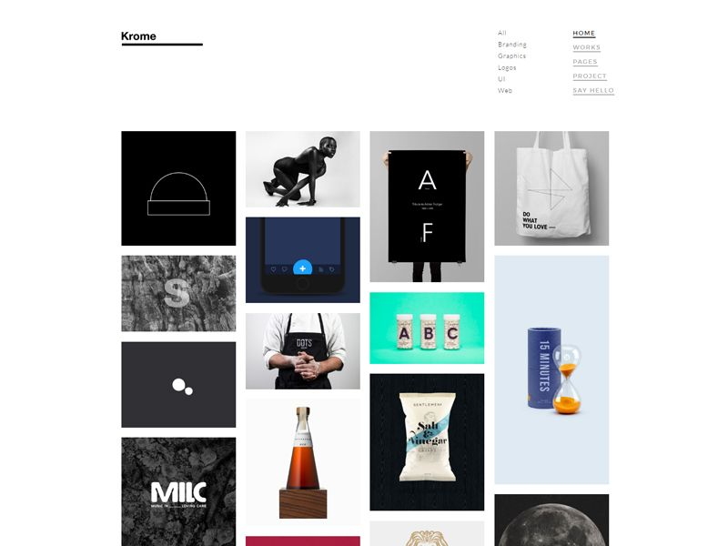 krome – photography free html template is suitable for portfolio, Presentation templates