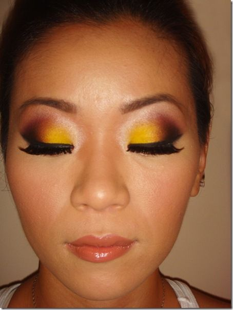 more yellow eyeshadow via eyebrowjunkie.blogspot.ca