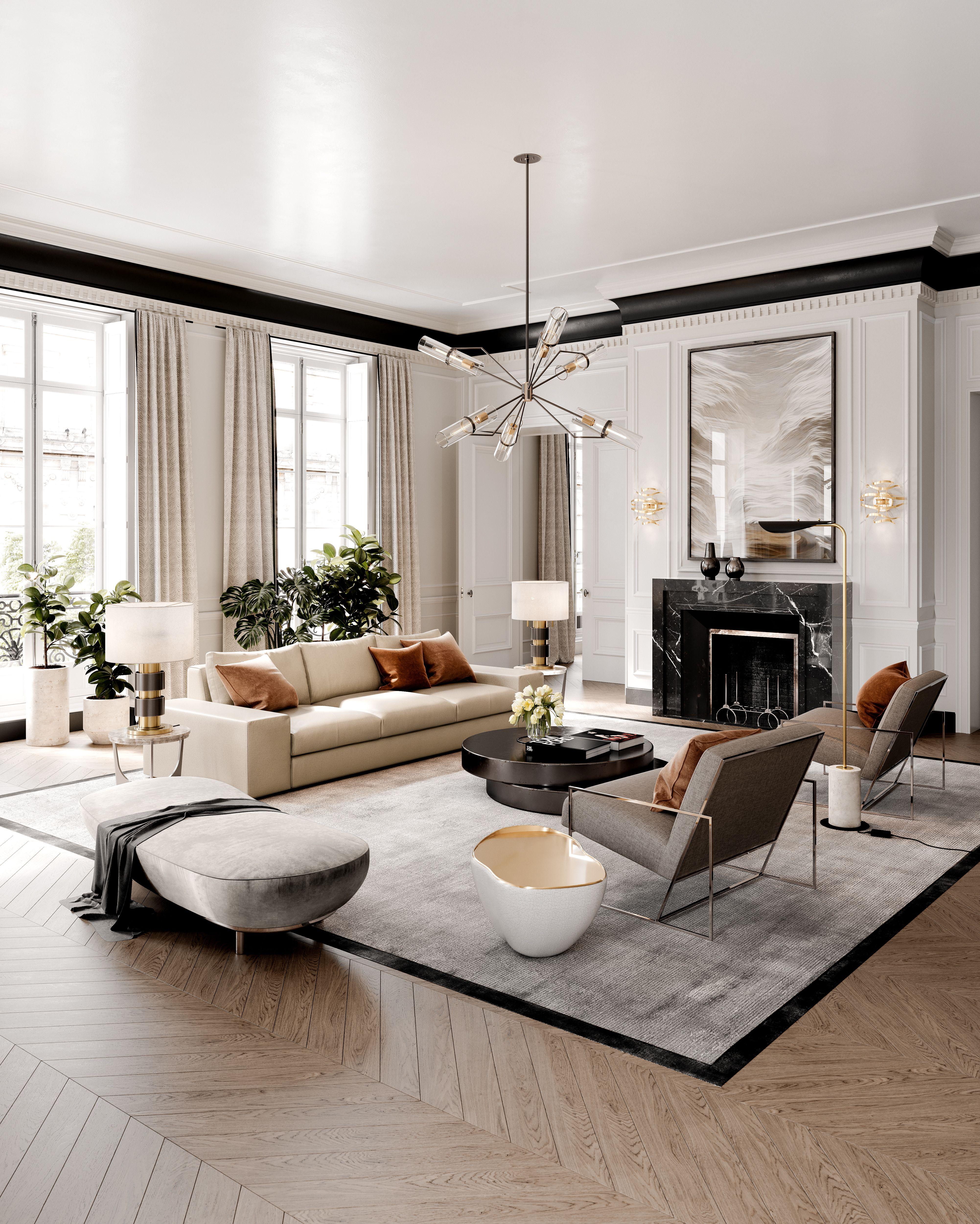 hudson valley lighting group raef chandelier elle decor living room luxury living room house interior