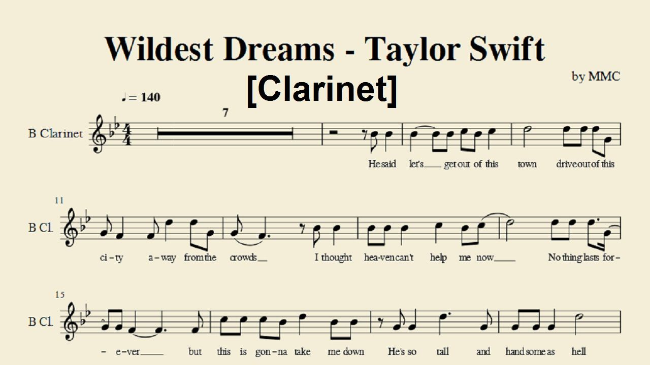 wildest dreams violin sheet music