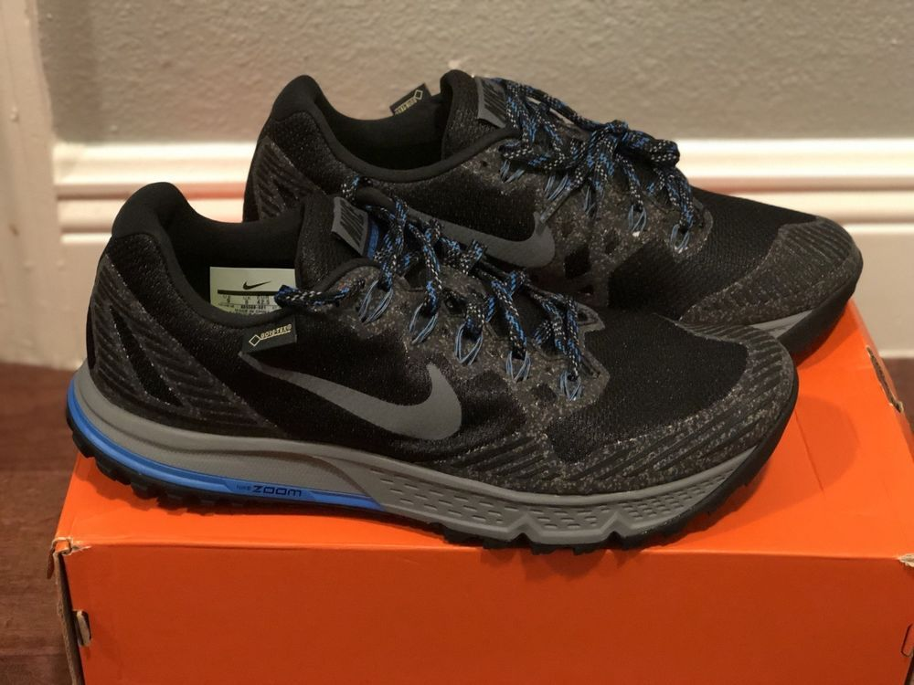 detailed look 3f9f2 4d9d7 NEW Nike Air Zoom Wild Horse 3 GTX Gore Tex Hiking run Black Gray 805569001  Sz