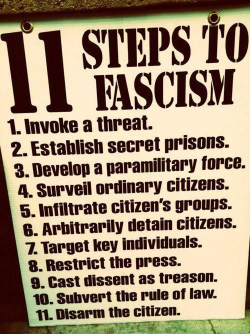 steps to facism