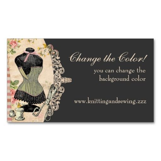Shabby chic corset scissors sewing business cards pinterest sewing logos for business cards customise the colour of this shabby chic sewing business card with colourmoves
