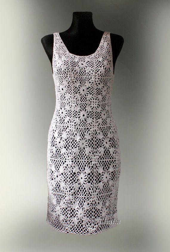 Crochet vestido de lino   VESTIDOS CROCHET   Pinterest   Vestidos ...