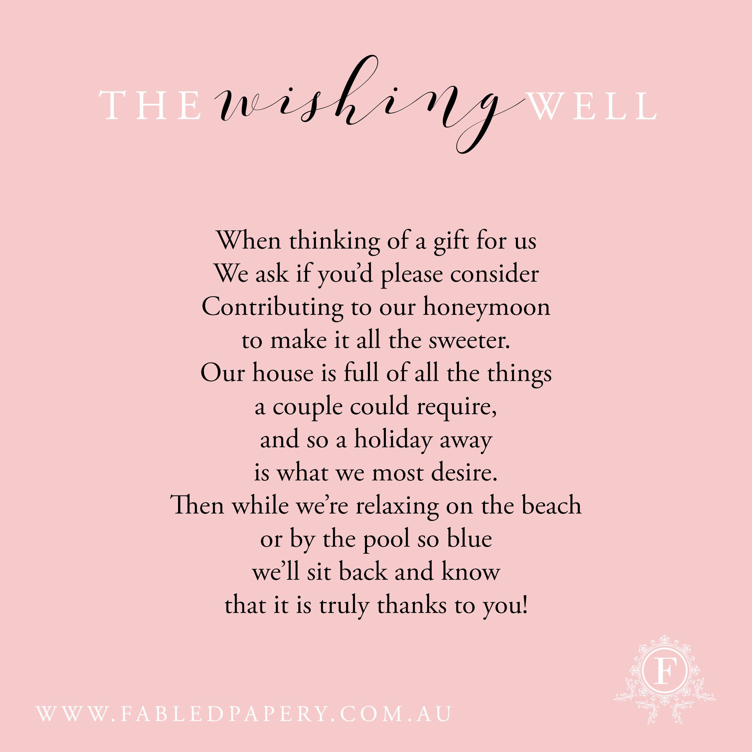 Wishing Well Poems | weddings | Pinterest | Poem, Wedding and Weddings