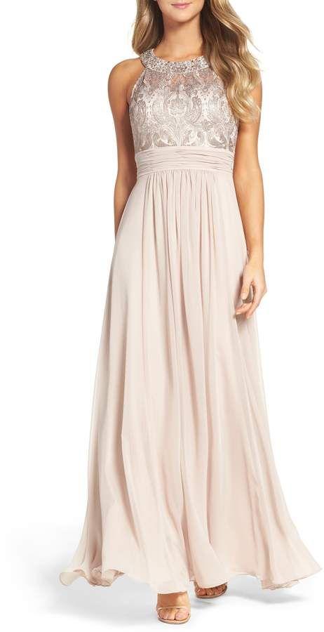 c33d7155f6 Eliza J Lace Bodice Gown | dresses in 2018 | Gowns, Lace bodice, Dresses