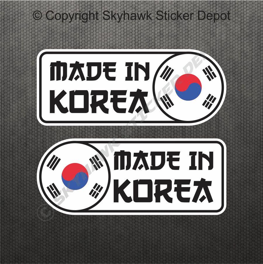 Made in korea car sticker set vinyl decal flag sticker for hyundai genesis kia 3m