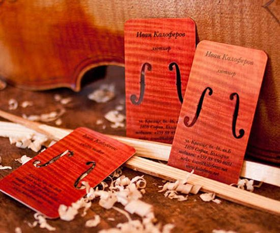 20 Interesting Wood Business Cards | Inspiration | iDesignow
